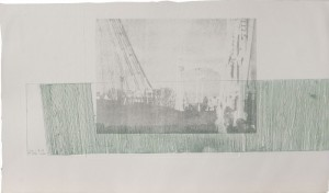 Albert's Bridge, Tiefdruck und Siebdruck auf Bütten, 1988, 33 x 55 cm