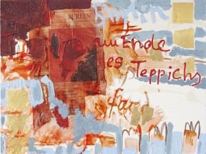 Berlin am Rande des roten Teppichs, Collage auf Leinwand, 2008, 80 x 100 cm