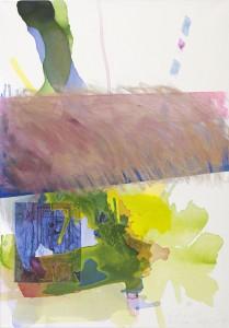 By Airmail, Collage und Mixed Media auf Leinwand, 2014, 70 x 100 cm