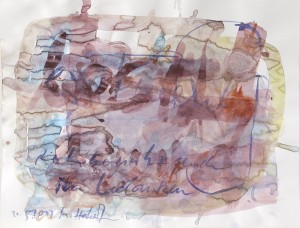 Die Liebe nutzt auch im Gedanken, Leipziger Zeichentusche auf Fabriano, 2013, 60 x 85 cm