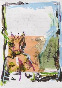 Fösche, Collage auf Bütten, 2010, 60 x 85 cm