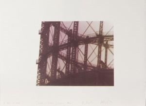 Jump without fall, Siebdruck auf Bütten, 1987, 45 x 55 cm