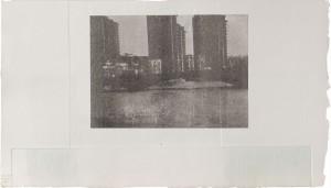 London, Siebdruck und Lithographie, 1988, 33 x 55 cm