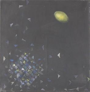 Mond OVAL, 1981, Öl auf Leinwand, 50 x 50 cm