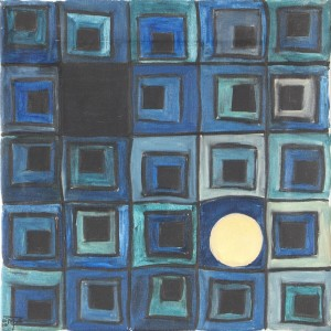Mond, Öl auf Leinwand, 1982, 35 x 35 cm