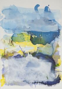 Nebel sich lichten, Öl auf Leinwand, 2015, 70 x 100 cm