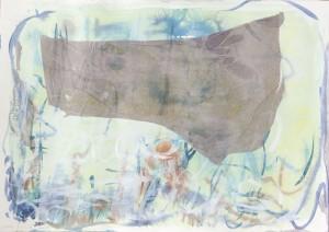 O. T., Collage auf Bütten, 2013, 45 x 55 cm