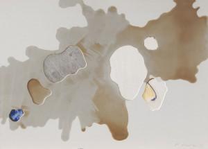O. T., Metall, Enkaustik, Objektbild, 1995, 50 x 85 cm