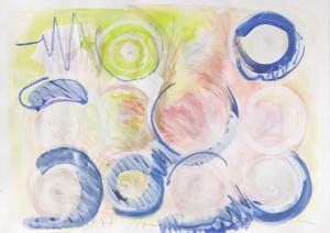 O. T., Mixed Media auf Papier, 2013, 45 x 65 cm