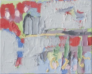 O. T., Öl auf Leinwand, 2009, 26 x 37 cm