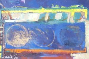 Platonische Kugeln, Öl auf Leinwand, 2011, 85 x 125 cm