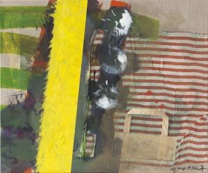 Reise 2, Collage und Öl auf Leinwand, 2008, 50 x 70 cm