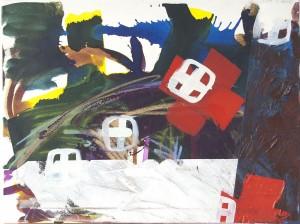 Rotes Kreuz 2, Öl auf Leinwand, 2008, 65 x 90 cm