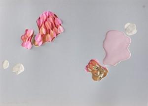 Tar-get, Objektcollage mit Dartpfeilen, 1995, 60 x 85 cm