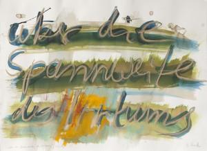 Über die Spannweite des Irrtums, Leipziger Zeichentusche auf Fabriano, 2012, 65 x 85 cm