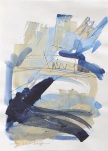 Venedig, Leipziger Zeichentusche auf Fabriano, 2009, 46 x 87 cm