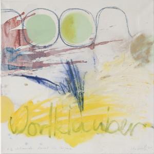 Wortklauber, Öl auf Leinwand, 2012, 50 x 50 cm