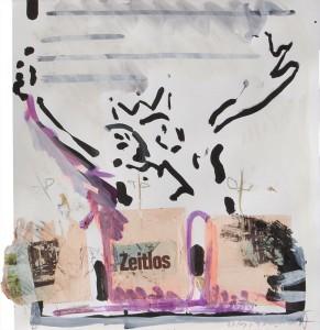 Zeitlos, Collage auf Bütten, 2011, 47 x 42 cm