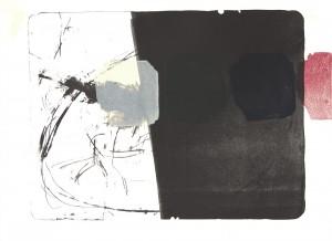 circeling over London, Lithographie / Monotypie auf Bütten, 1987
