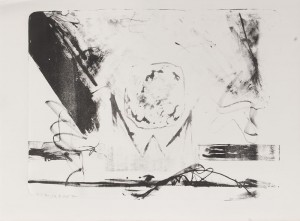 circeling over London, Lithographie auf Bütten, 70 x 90 cm