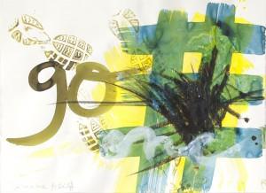 go, Leipziger Zeichentusche auf Fabriano, 2012, 65 x 85 cm