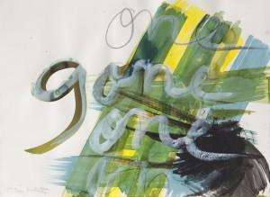 one gone one, Leipziger Zeichentusche auf Fabriano, 2012, 65 x 85 cm