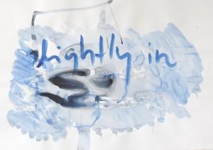 slithly in, Leipziger Zeichentusche auf Fabriano, 2008, 70 x 100 cm