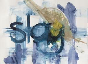 stay, Leipziger Zeichentusche auf Fabriano, 2012, 65 x 85 cm
