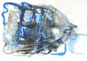straucheln, Leipziger Zeichentusche auf Fabriano, 2008, 70 x 100 cm
