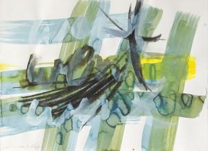 went went went, Leipziger Zeichentusche auf Fabriano, 2011, 60 x 85 cm