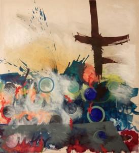 claustrum 2, Öl auf Nessel, 2012, 185x160cm