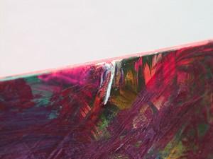 Kurve im Raum (Detail), Öl und Kreide auf Acrylgas, 2007, 100 x 100 x 19 cm