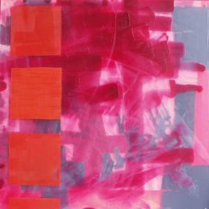 O. T., Acrylgas, Bienenwachs auf Leinwand, 2004, 75 x 75 cm
